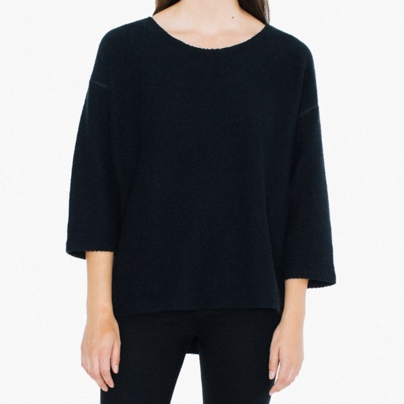 American Apparel Sweaters - American Apparel Black Easy Sweater One Size